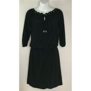 White House Black Market Black 3/4 Sleeve Grommet